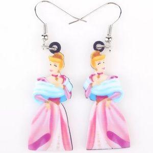 Disney Princess Cinderella Acrylic Earrings